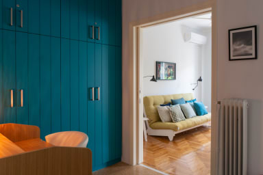 Teal Blue 1BR under the Acropolis by JJ Hospitality