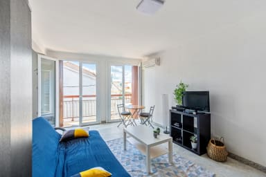 Grand studio avec AC et balcon à 10 min du centre de Montpellier – Welkeys