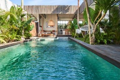 NEW! Rustic design, Private Villa, 3 BR, Umalas w/ staff