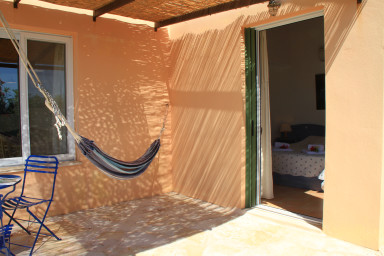 hammock on the terrace of the bedroom 1