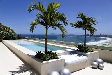 Luxury penthouse rental - rio de janeiro - Swimming pool - The Scorces Penthouse
