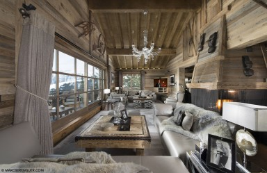 ski chalet holidays - Courchevel - Living room - Chalet La Grande Roche
