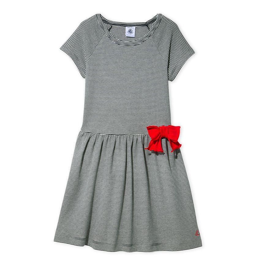 Girls' milleraies-striped dress