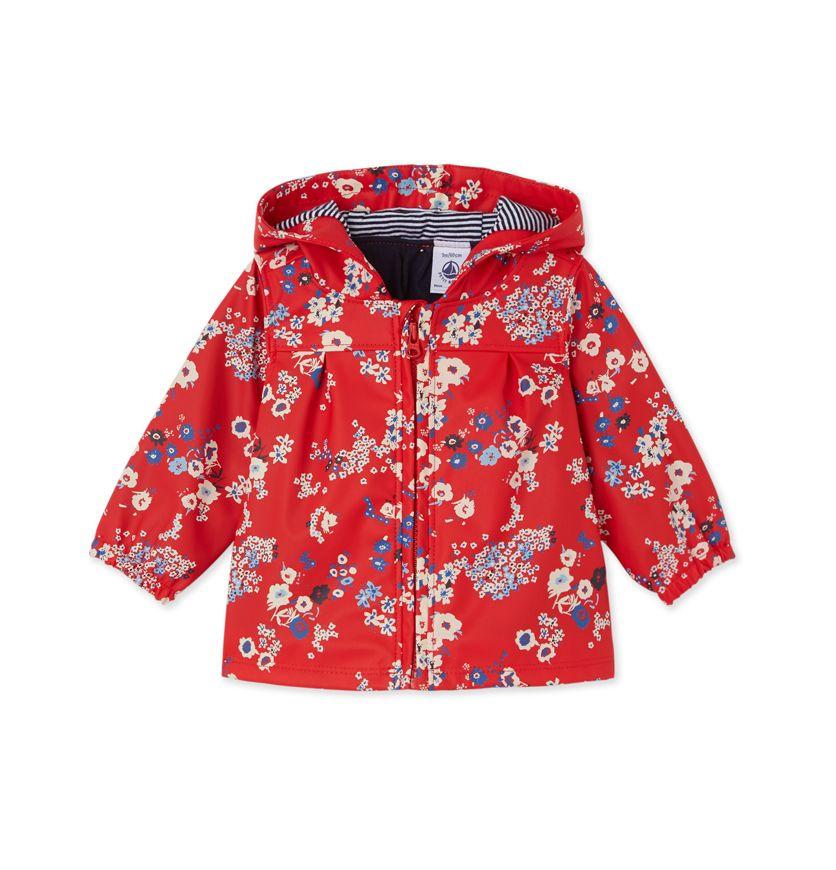 Baby girls' printed raincoat