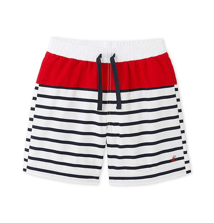 Boys' striped swim shorts