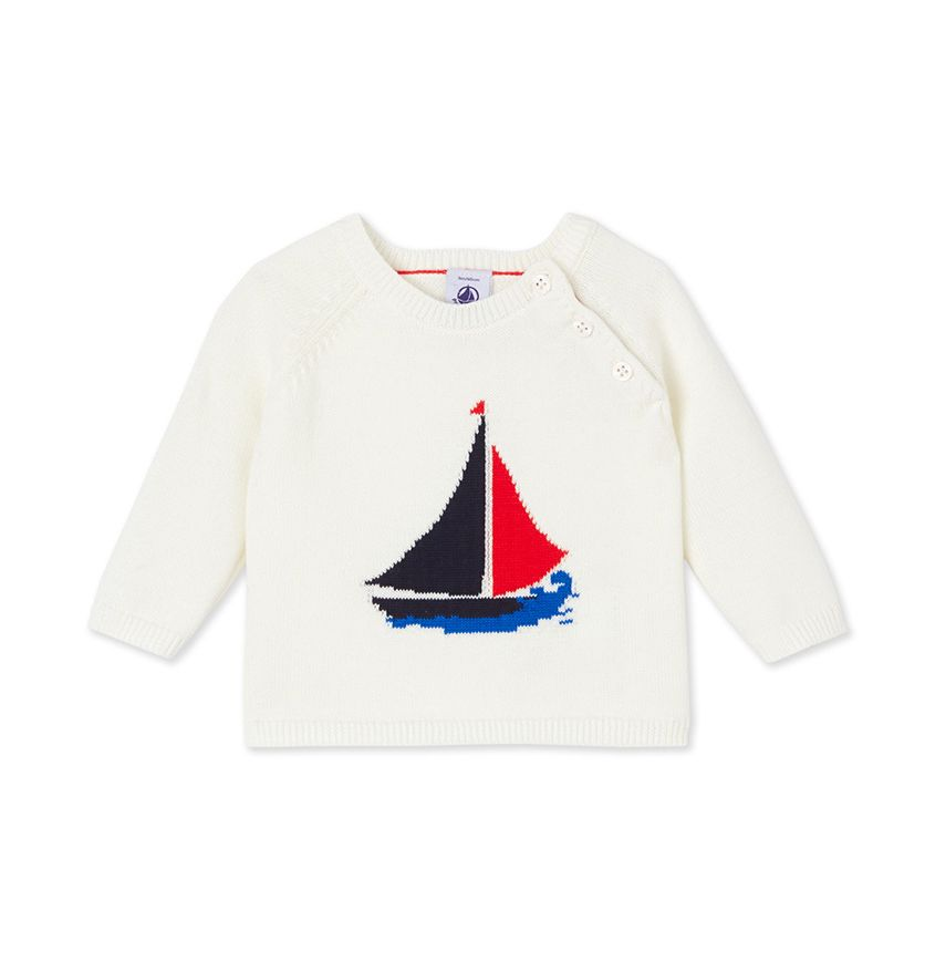 Baby boys' knitted jumper