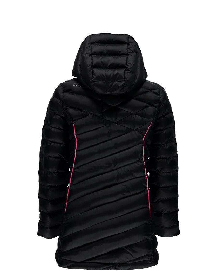 GIRLS' TIMELESS LONG SYNTHETIC DOWN JACKET