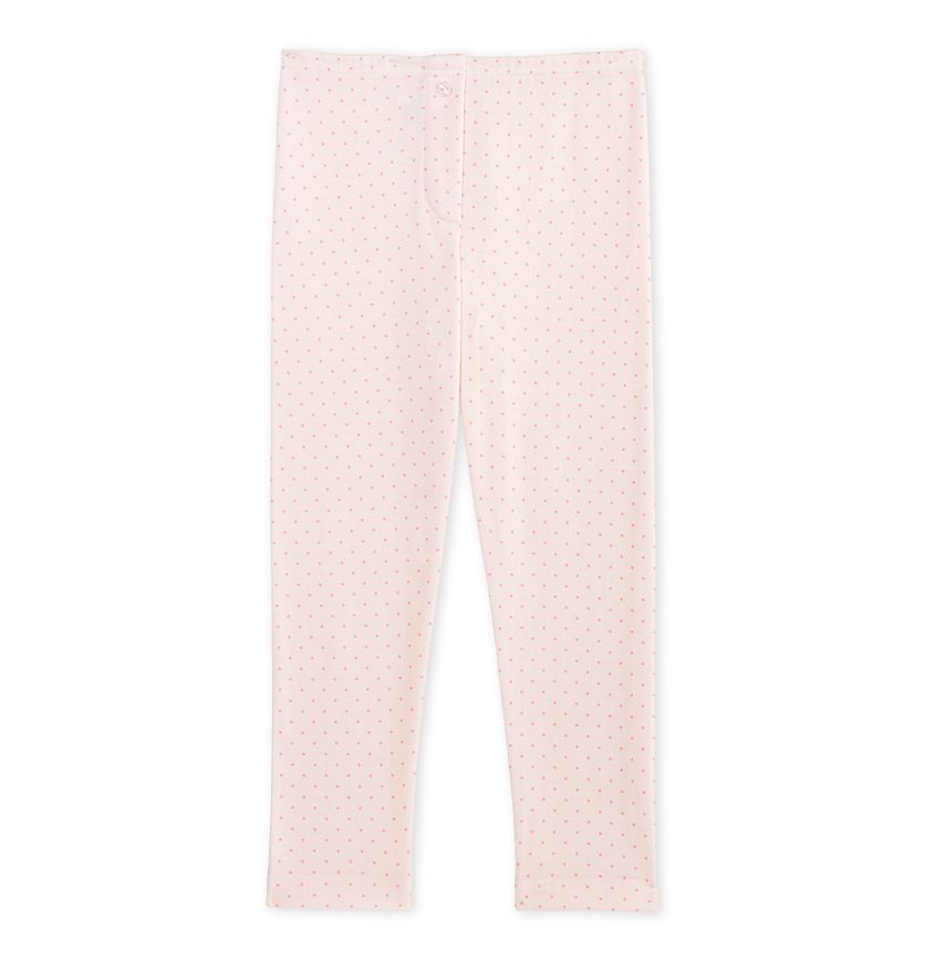 Girl's long johns in wool and cotton