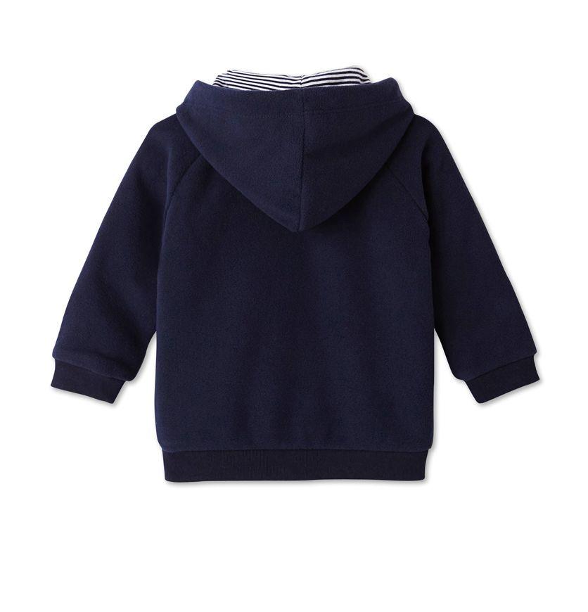 Baby boy's zippered fleece sweatshirt