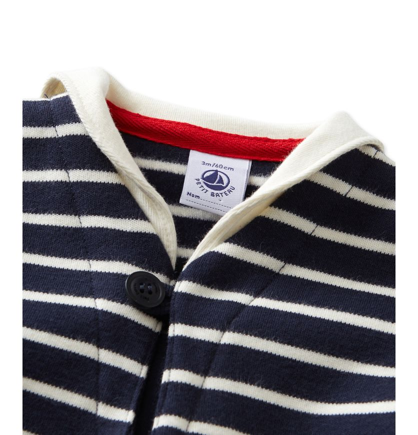Baby sailor-style top with sailor collar