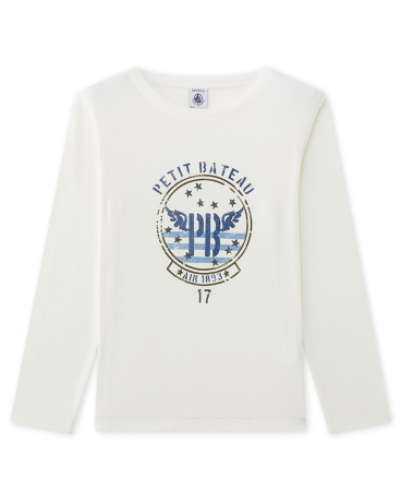 Boy's long-sleeved screen print tee