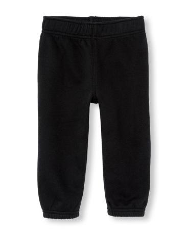 Toddler Boys Active Solid Fleece Pants
