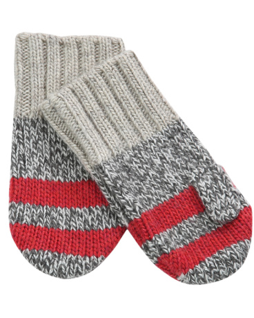 Boys Charcoal Color Blocked Mitten