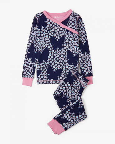Butterflies & Buds Organic Cotton Pajama Set