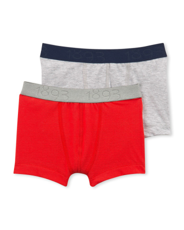 Set of 2 boy's plain stretch jersey boxers
