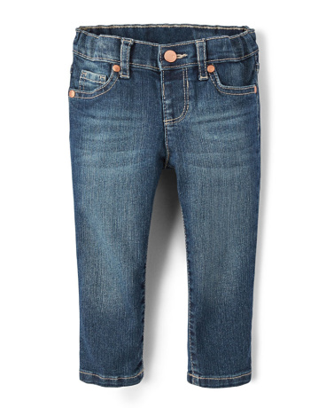 Baby And Toddler Girls Basic Skinny Jeans - Blue Wash