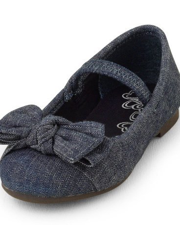 Toddler Girls Denim Ballet Flat