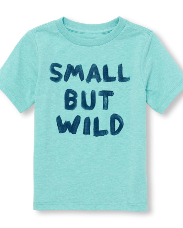 Toddler Boys Short Sleeve 'Small But Wild' Graphic Tee