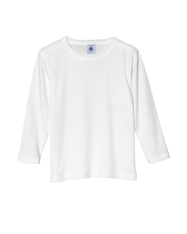 Boy's long sleeve plain T-shirt