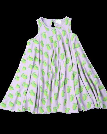 Lime Print Cotton Jersey Shift Dress