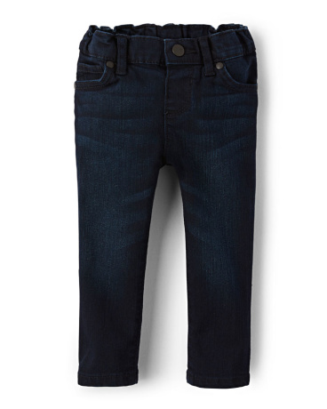 Baby And Toddler Girls Basic Skinny Jeans - Dark Indigo Wash