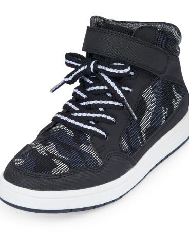 Boys Camo Hi-Top Jet Sneaker