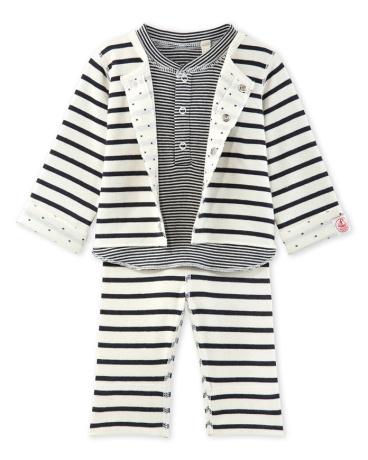 Baby reversible 3-piece set