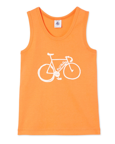 Boy's screen print vest top