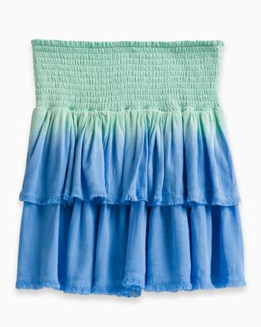 Girl Dip Dye Frayed Edge Skirt