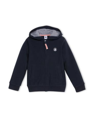 Boy's hooded micro-fleece sweatshirt.
