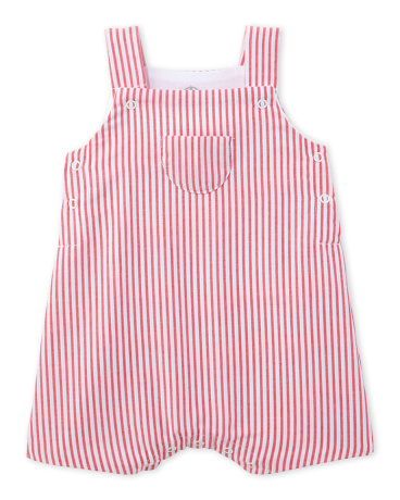 Baby boy striped dungarees