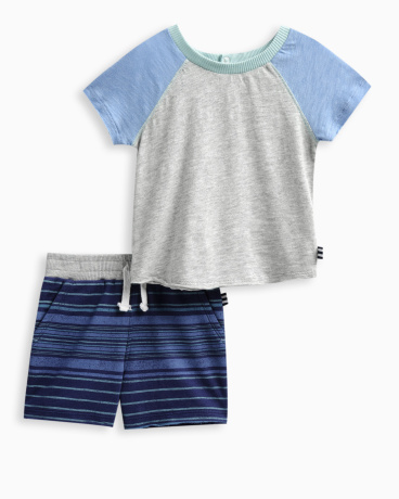 Baby Boy Raglan Short Set
