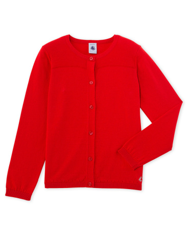Girls' knitted cardigan