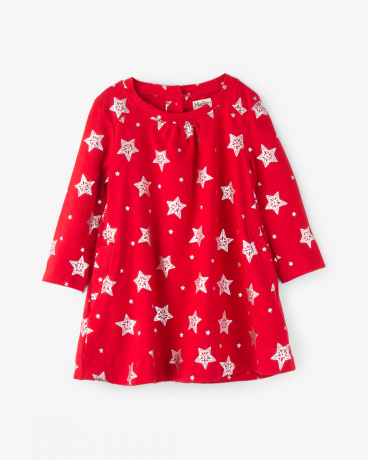 Infant Foil Twinkle Christmas Dress
