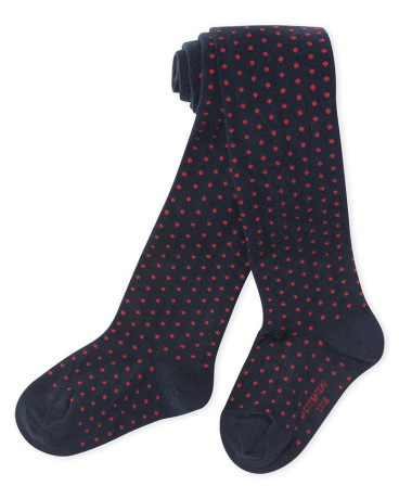 Girl's polka dot tights