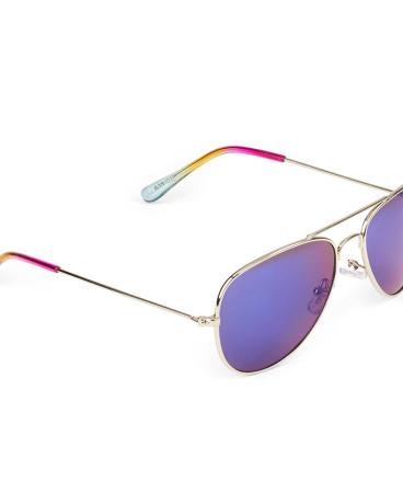 Girls Rainbow Aviator Sunglasses