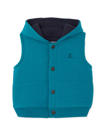 Baby boys' sleeveless reversible fleece jacket