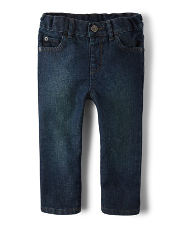 Baby And Toddler Boys Basic Skinny Jeans - Deep Blue Wash