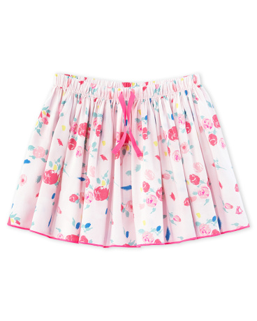 Girls' print skirt