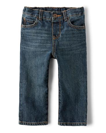 Baby And Toddler Boys Basic Straight Leg Jeans - Dark Jupiter Wash