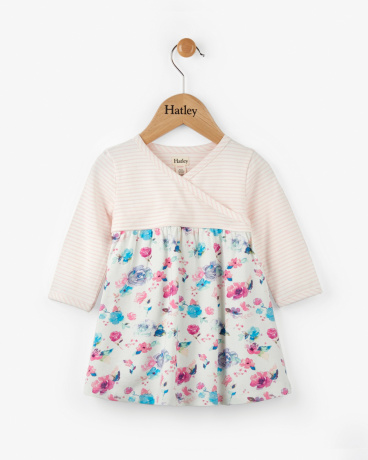 Watercolour Blooms Baby Crossover Dress