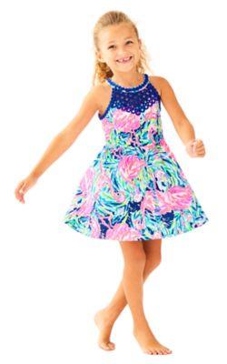 Girls Kinley Fit & Flare Dress