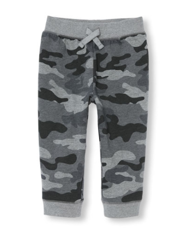 Toddler Boys Camo Print Fleece Camo Jogger Pants