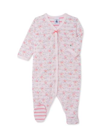 Baby girls' sleepsuit in print tube knit