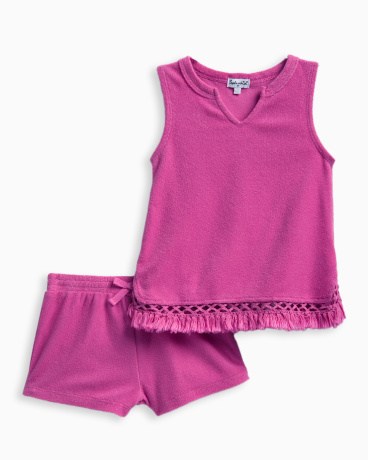 Little Girl Terry with Fringe Top Set