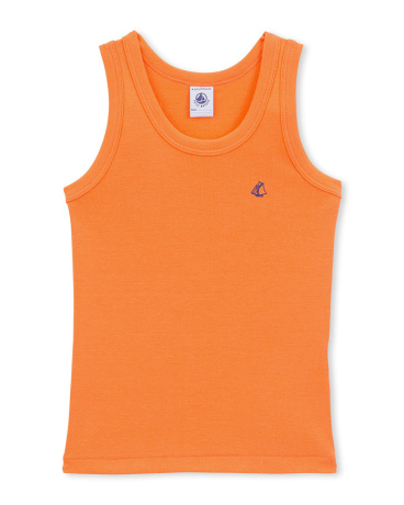 Boy's plain vest top with motif