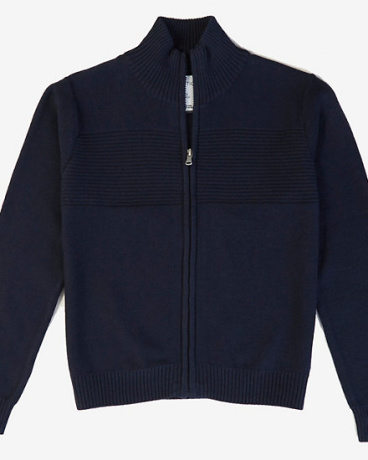 Little Boys' Ribbed Zip Sweater