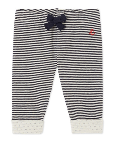 Baby boy's striped double knit pants