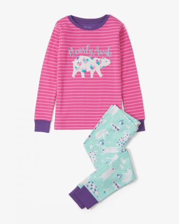 Arctic Party Appliqué Organic Cotton Pajama Set