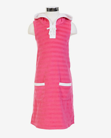 Girls' Striped Terry Swim Cover-Up (8-16)